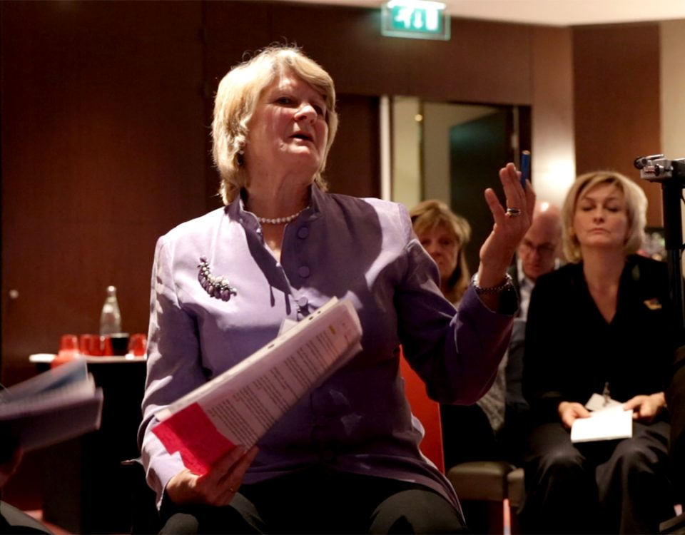 Photo of Alison Hodge leading a live demonstration of supervision